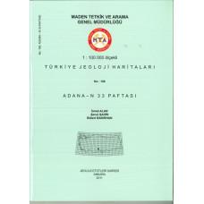 1:100.000 Ölçekli Türkiye Jeoloji Haritaları Adana-N 33 Paftası No:166