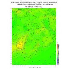 I 33 paftası 1/100.000 ölçekli Havadan Rejyonal Manyetik Haritası
