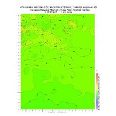 I 37 paftası 1/100.000 ölçekli Havadan Rejyonal Manyetik Haritası