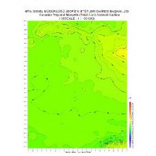 I 38 paftası 1/100.000 ölçekli Havadan Rejyonal Manyetik Haritası