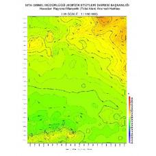 I 39 paftası 1/100.000 ölçekli Havadan Rejyonal Manyetik Haritası