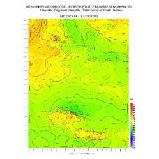 I 40 paftası 1/100.000 ölçekli Havadan Rejyonal Manyetik Haritası