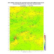 I 41 paftası 1/100.000 ölçekli Havadan Rejyonal Manyetik Haritası