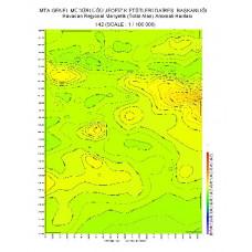 I 42 paftası 1/100.000 ölçekli Havadan Rejyonal Manyetik Haritası