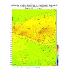 I 43 paftası 1/100.000 ölçekli Havadan Rejyonal Manyetik Haritası