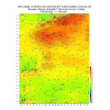 I 44 paftası 1/100.000 ölçekli Havadan Rejyonal Manyetik Haritası