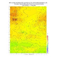 I 45 paftası 1/100.000 ölçekli Havadan Rejyonal Manyetik Haritası
