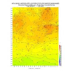 I 46 paftası 1/100.000 ölçekli Havadan Rejyonal Manyetik Haritası