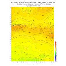 I 47 paftası 1/100.000 ölçekli Havadan Rejyonal Manyetik Haritası