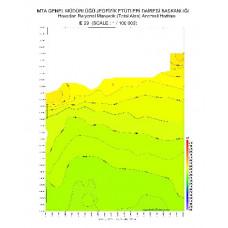 E 29 paftası 1/100.000 ölçekli Havadan Rejyonal Manyetik Haritası