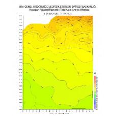 E 30 paftası 1/100.000 ölçekli Havadan Rejyonal Manyetik Haritası