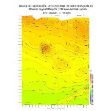 E 31 paftası 1/100.000 ölçekli Havadan Rejyonal Manyetik Haritası