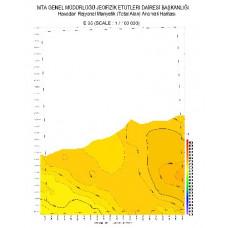 E 35 paftası 1/100.000 ölçekli Havadan Rejyonal Manyetik Haritası