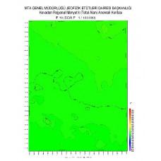 F 19 paftası 1/100.000 ölçekli Havadan Rejyonal Manyetik Haritası