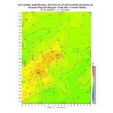 F 28 paftası 1/100.000 ölçekli Havadan Rejyonal Manyetik Haritası