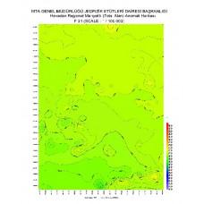 F 31 paftası 1/100.000 ölçekli Havadan Rejyonal Manyetik Haritası