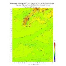 F 32 paftası 1/100.000 ölçekli Havadan Rejyonal Manyetik Haritası