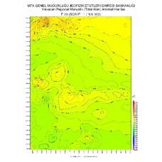 F 33 paftası 1/100.000 ölçekli Havadan Rejyonal Manyetik Haritası