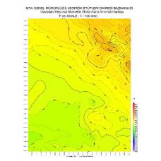F 35 paftası 1/100.000 ölçekli Havadan Rejyonal Manyetik Haritası