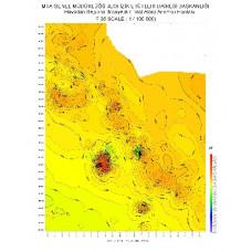 F 36 paftası 1/100.000 ölçekli Havadan Rejyonal Manyetik Haritası