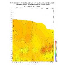 F 37 paftası 1/100.000 ölçekli Havadan Rejyonal Manyetik Haritası