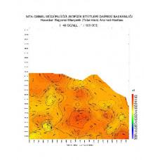 F 49 paftası 1/100.000 ölçekli Havadan Rejyonal Manyetik Haritası