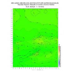 G 24 paftası 1/100.000 ölçekli Havadan Rejyonal Manyetik Haritası