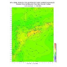 G 31 paftası 1/100.000 ölçekli Havadan Rejyonal Manyetik Haritası