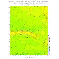G 35 paftası 1/100.000 ölçekli Havadan Rejyonal Manyetik Haritası