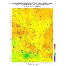 G 38 paftası 1/100.000 ölçekli Havadan Rejyonal Manyetik Haritası