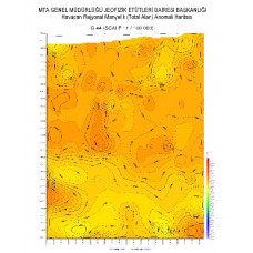 G 44 paftası 1/100.000 ölçekli Havadan Rejyonal Manyetik Haritası