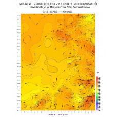 G 48 paftası 1/100.000 ölçekli Havadan Rejyonal Manyetik Haritası