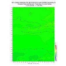 H 25 paftası 1/100.000 ölçekli Havadan Rejyonal Manyetik Haritası