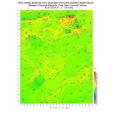 H 35 paftası 1/100.000 ölçekli Havadan Rejyonal Manyetik Haritası