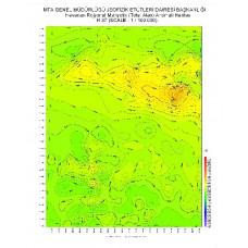 H 37 paftası 1/100.000 ölçekli Havadan Rejyonal Manyetik Haritası