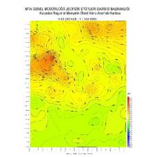 H 42 paftası 1/100.000 ölçekli Havadan Rejyonal Manyetik Haritası
