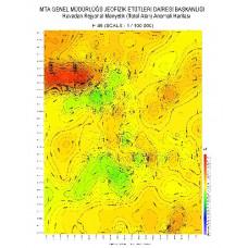 H 46 paftası 1/100.000 ölçekli Havadan Rejyonal Manyetik Haritası