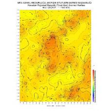 H 47 paftası 1/100.000 ölçekli Havadan Rejyonal Manyetik Haritası