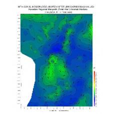 I 16 paftası 1/100.000 ölçekli Havadan Rejyonal Manyetik Haritası