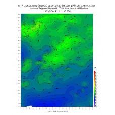 I 17 paftası 1/100.000 ölçekli Havadan Rejyonal Manyetik Haritası
