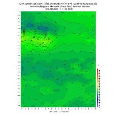 I 23 paftası 1/100.000 ölçekli Havadan Rejyonal Manyetik Haritası