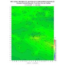 I 25 paftası 1/100.000 ölçekli Havadan Rejyonal Manyetik Haritası