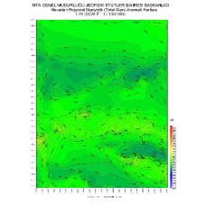 I 26 paftası 1/100.000 ölçekli Havadan Rejyonal Manyetik Haritası