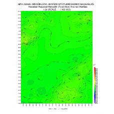 I 29 paftası 1/100.000 ölçekli Havadan Rejyonal Manyetik Haritası