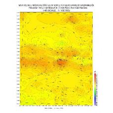 I 48 paftası 1/100.000 ölçekli Havadan Rejyonal Manyetik Haritası
