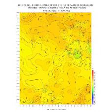 I 50 paftası 1/100.000 ölçekli Havadan Rejyonal Manyetik Haritası