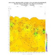 I 51 paftası 1/100.000 ölçekli Havadan Rejyonal Manyetik Haritası