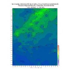 J 20 paftası 1/100.000 ölçekli Havadan Rejyonal Manyetik Haritası