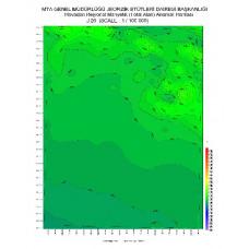 J 26 paftası 1/100.000 ölçekli Havadan Rejyonal Manyetik Haritası
