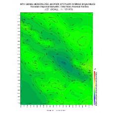 J 27 paftası 1/100.000 ölçekli Havadan Rejyonal Manyetik Haritası
